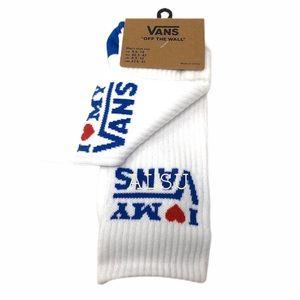 VANS I LOVE MY VANS Socks 1 Pack White Unisex